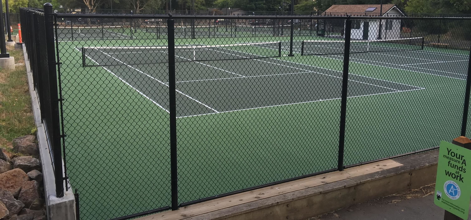 Fencing, Plexipave Tennis Courts